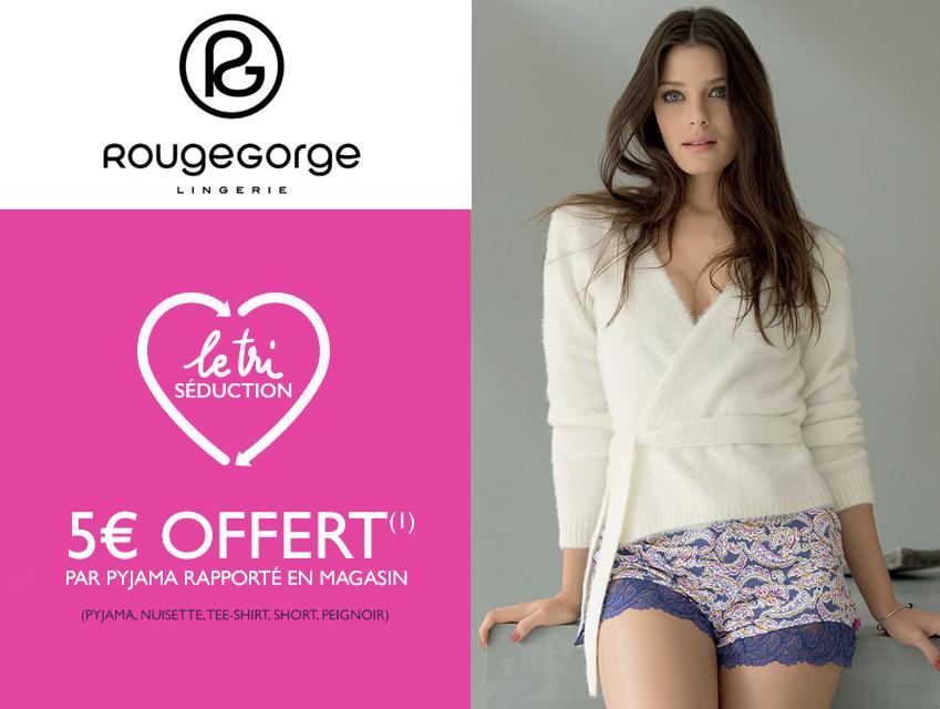 meilleur service 69f94 d744b Bon plan RougeGorge : 5€ offerts pour chaque pyjama rapporté ...